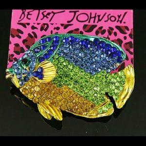 BETSEY JOHNSON~ Tropical Fish Brooch/Pin
